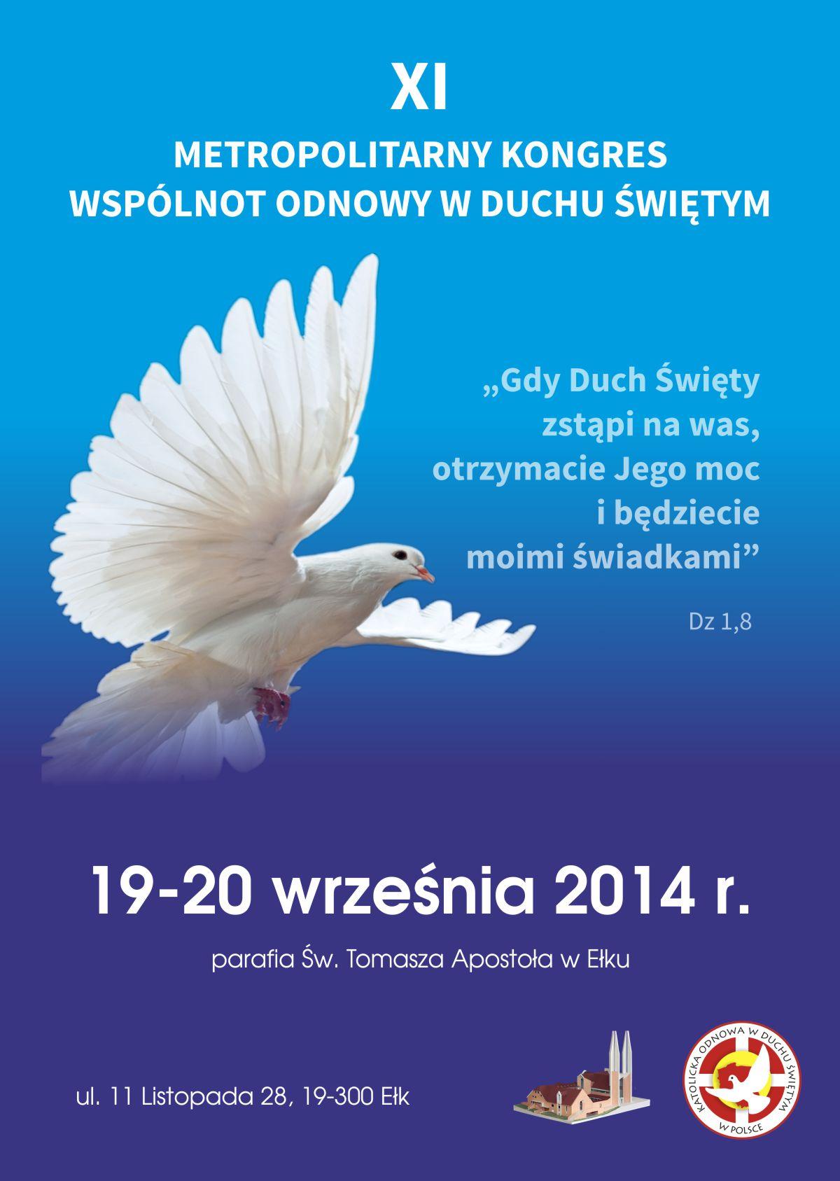 Plakat_XI_Metropolitarny_Kongres_Odnowy_w_Duchu_Świętym_2014